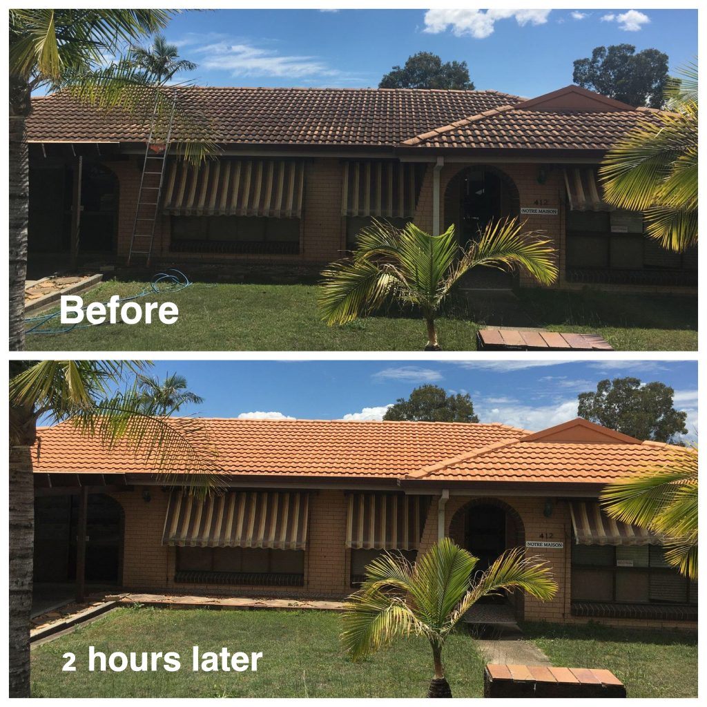 1300 Cleaning Group roof before after