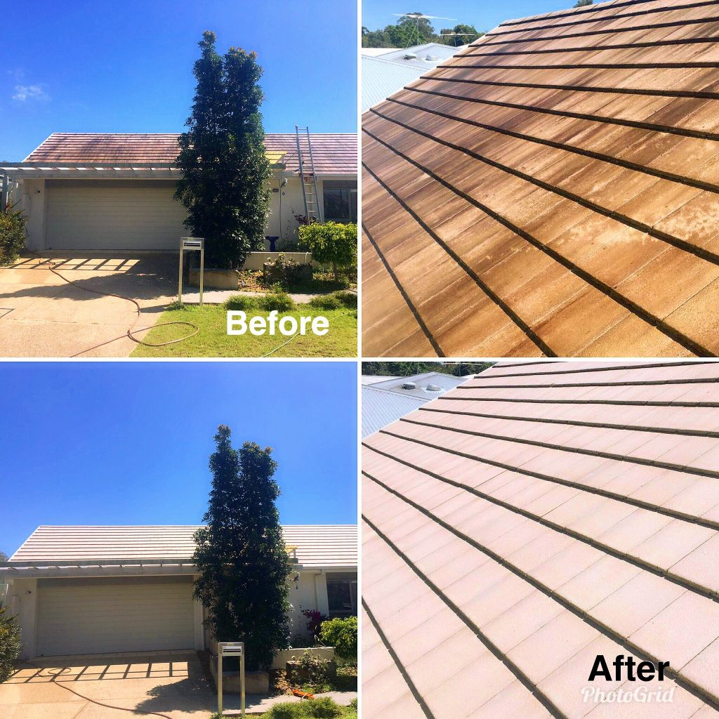 1300 Cleaning Group roof clean before and after